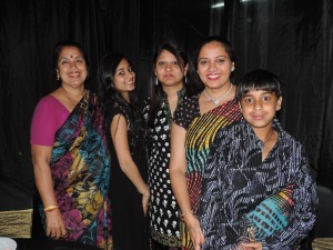 L to R Usha Solanki, Payal Solanki, Dipti Solanki, Kokila Solanki, Rithik Solanki