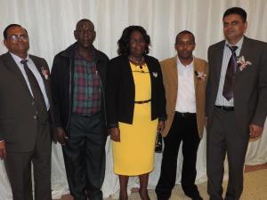 L to R Varsani Manji, Geoffrey Mwenda, Beatrice N K, David Mwaniki, Karsan Varsani