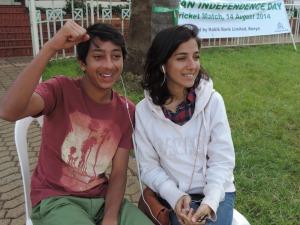 L to R Hamza Khan, Sidra Khan