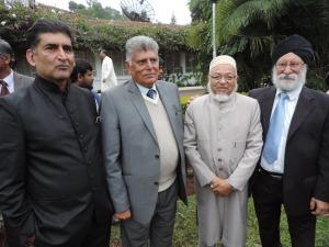 L to R Hon Irshad Sumra MP Embakasi, Srat Muljibhai, Mohammed Ali, Surinder S Birdi