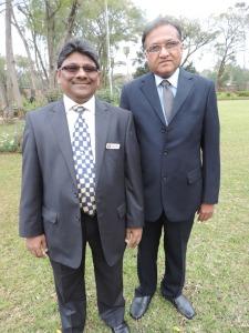 L to R Jayendra Malde, Suresh Mata