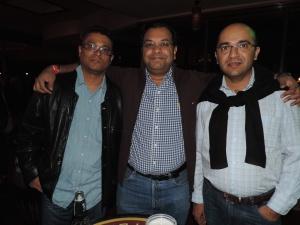 L to R Ketan Shah, Priyesh Shah, Nilesh Chauhan