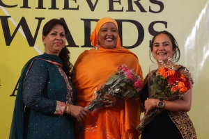 L to R Mrs Sethi, Mrs Wario, Hon Sunjeev Kaur Birdi MP