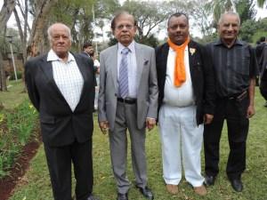 L to R Shantibhai Shah, J K Patel, Suresh Bid, Mansukh Shah