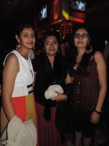 L to R Shruti Pabari, Neha Pabari, Sneha Pabari