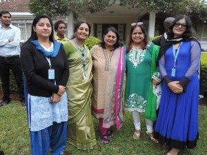 L to R Shweta Sandilyam Rema Venu, Sabina Bindal, Kapila Dhingra, Renu Wadhwa