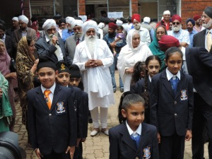 Bhai Sahib Ji walks with the Children