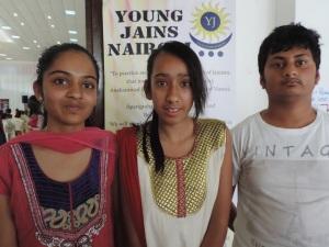 L to R Devanshi Patel, Stuti Dave, Paras Gudka