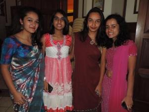 L to R Gaia Aggarwal, Ruqayyah Karimjee, Fiya Shah, Anoushka Bhari