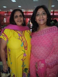 L to R Hena Patel, Varsha Patel