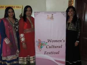 L to R Jalpa Patel, Heenal Pabari, Trupti Patel