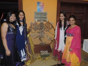 L to R Kajal Patel, Nikita Kotecha, Komal Patel, Bhavika Patel