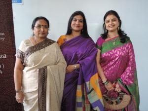 L to R Kokila Patel, Praksheekha Patel, Rupali Varsani