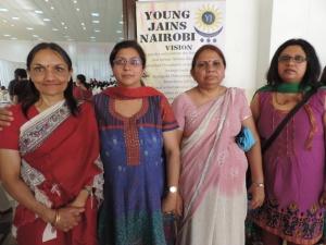 L to R Kusum Shah, Chetna Shah, Meena Shah, Jayshree Patel