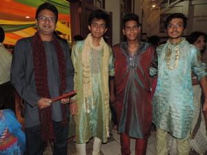 L to R Prady Vat, Dhaval Jadha, Dhruvit Shah, Yash Shah