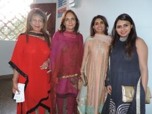 L to R Rubina Juma, Sheela Doshi, Zayeeda JanMohammed, Azmina Pattni