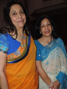 L to R Sheela Patel, Sheela Thanky