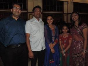 L to R Vihar Kotecha, Vasant Sanghani, Minali Sanghani, Neha Sanghani, Nikita Kotecha