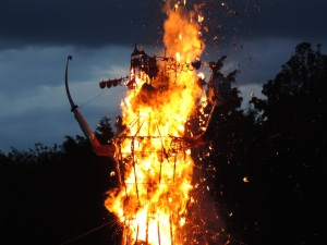 Effigy of Lord Ravan Burning