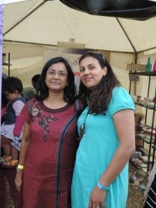 L to R Bhavini Dodhia, Ketu Shah