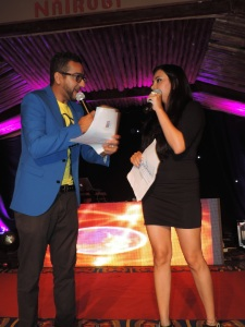 L to R DJ Gupz & Pooja Kotedia, The Emcees for the Show