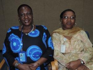 L to R Eshila Hazel Maravanyika, Irene Mwakesi