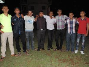 L to R Harish Rabadia, Chandresh Hirani, Avneesh Vekaria, Yashiv Sayani, Tushar Vagani, Vijay Pindoria, Sanjay Gerai, Gerai