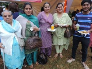 L to R Harpal Kaur, Gurpreet Kaur, Navjot Kenth, Mandeep Kenth, Ikreet Singh