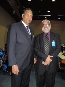 L to R High Commissioner India Yogeshwar Varma, P Raghupati