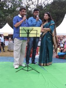 L to R Mayank Sharma, Shiv Mishra, Sorali Vija