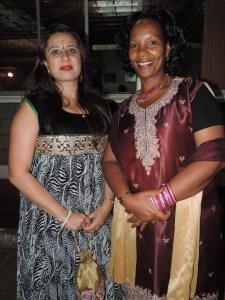 L to R Reshma Budhev, Susan Githinji