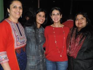 L to R Nidhi Rao, Gitanjali Thakur, Sheetal Dave, Jayshree Chauhan