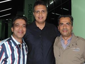 L to R Raj Thakur, Bharat Rao, Shreyesh Dave