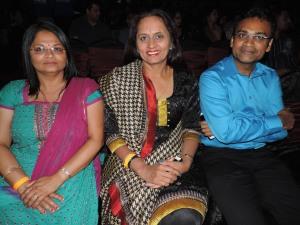 L to R Rekha Varsani, Manju Gorasia, Ramesh Gorasia