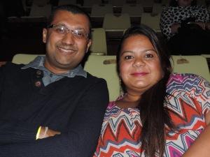 L to R Tahir Sadik, Swati Sadik