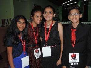 L to R Yukta Shah, Nishma Ganatra, Masum Patel, Arpit Mehta