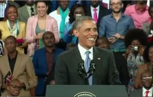 President Obama in Kenya at Kasarani Stadium (Photo Courtesy Shallow Nation)