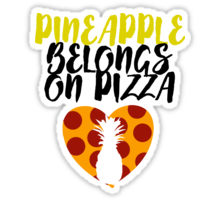 Pineapple Pizza Courtesy RedBubble